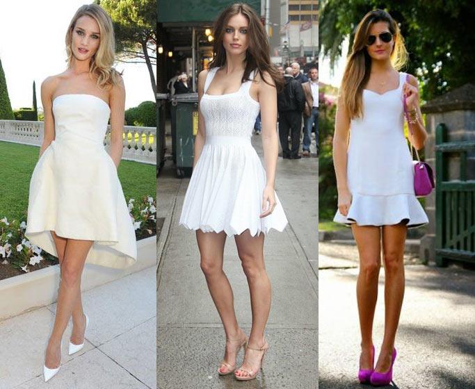 Que zapatos debo usar con un vestido blanco