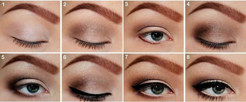 ahumado sencillo en marron - Ojos Ahumados » como maquillarlos paso a paso!!