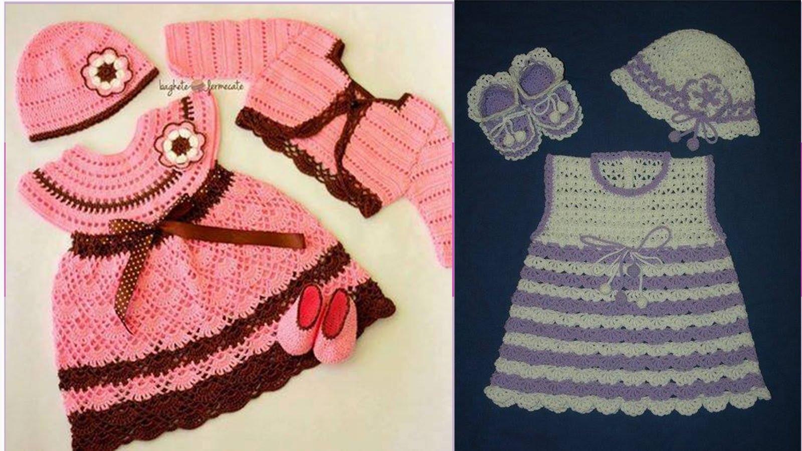 bestidos tejidos para bebes - Outfits Ropa de moda para bebes