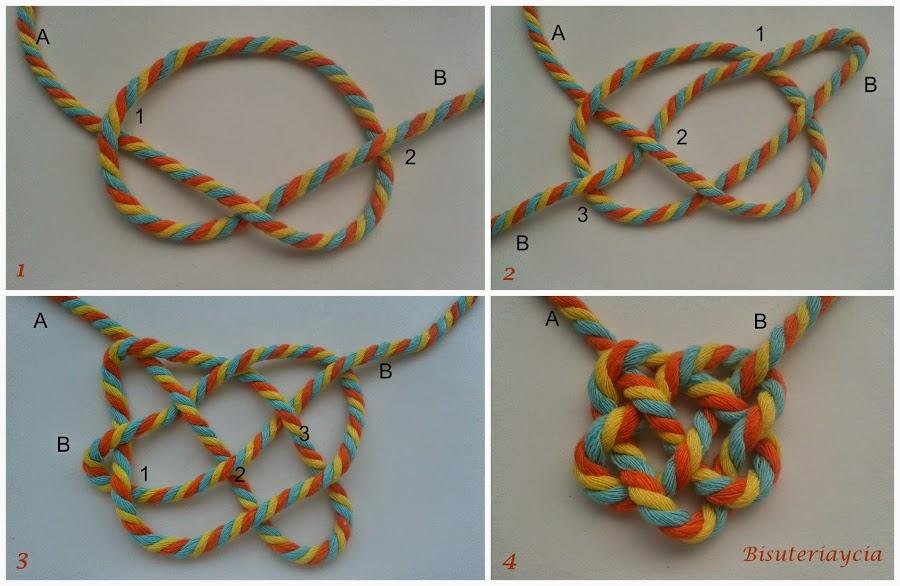 como hacer un collar de nudos paso a paso