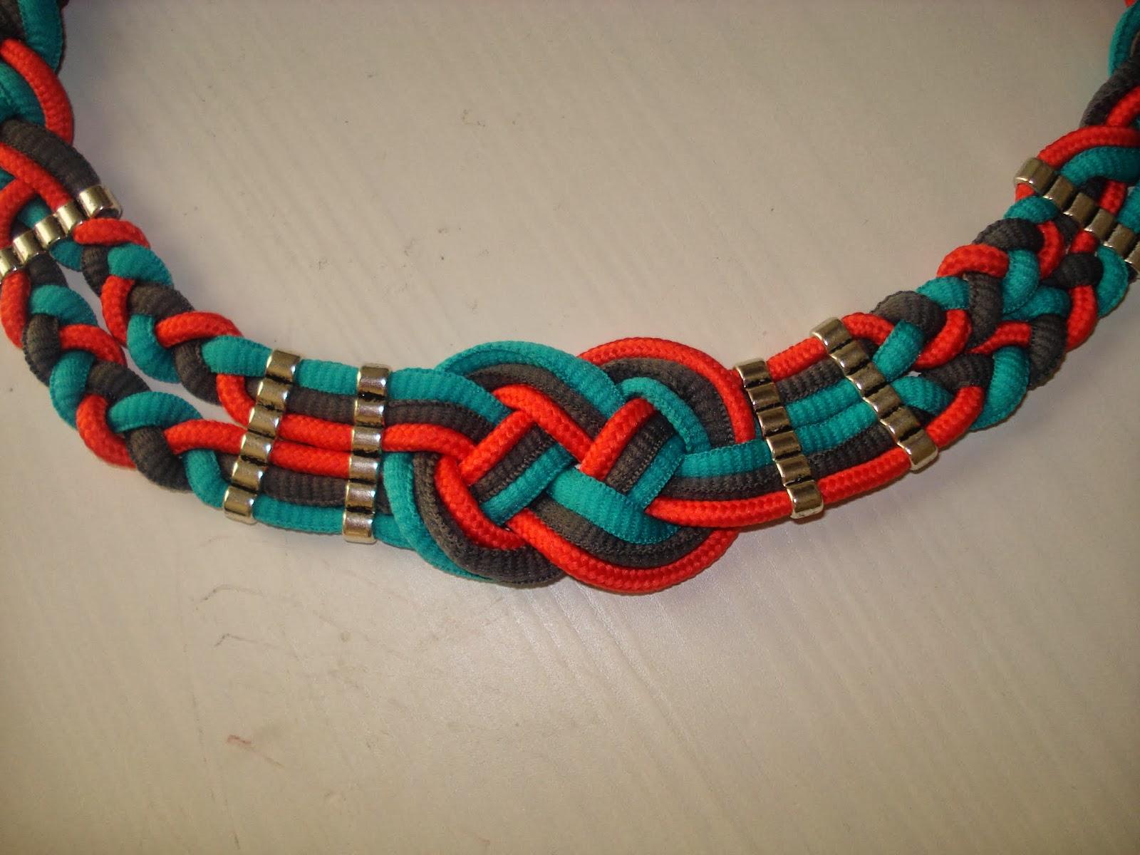 como hacer un collar de nudos
