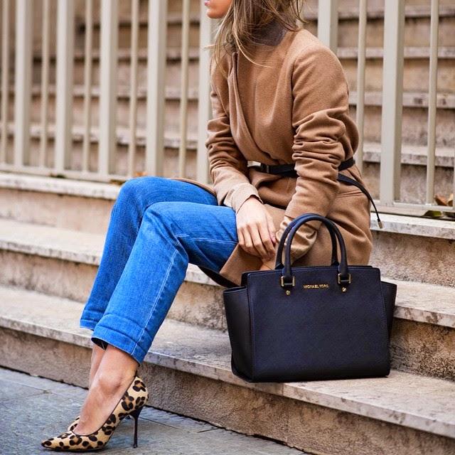como usar stilettos con jeans