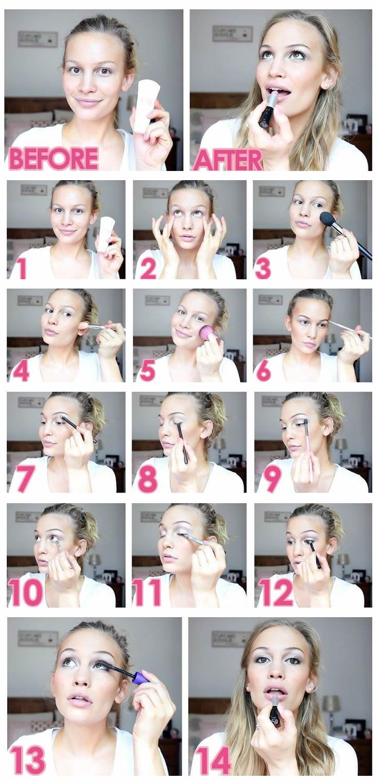 pasos de maquillaje de dia