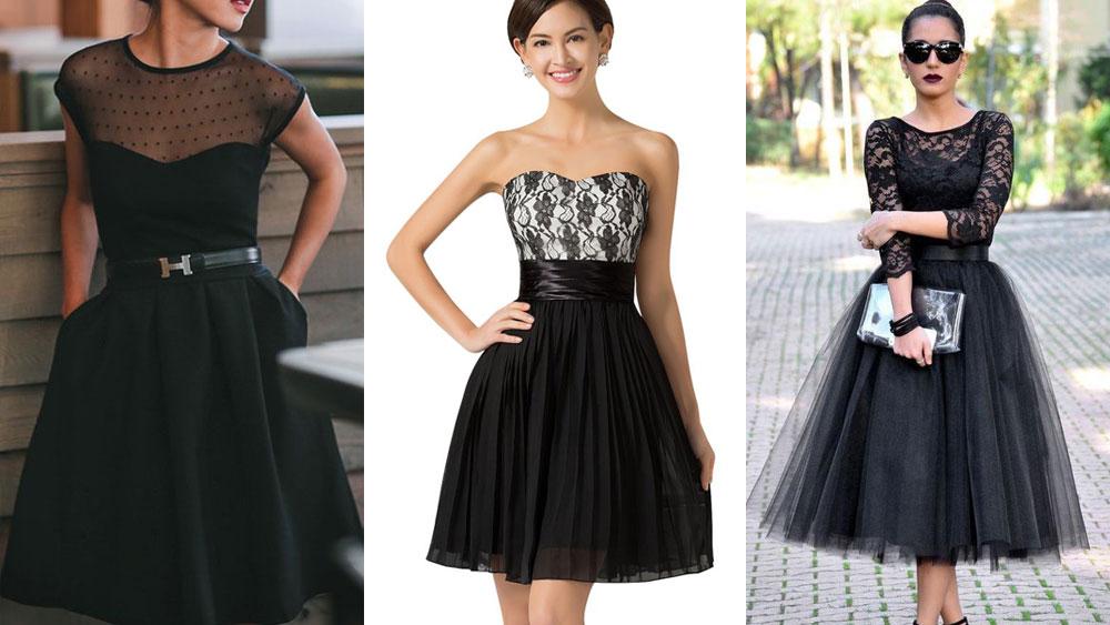 Fotos de vestidos negros para la noche