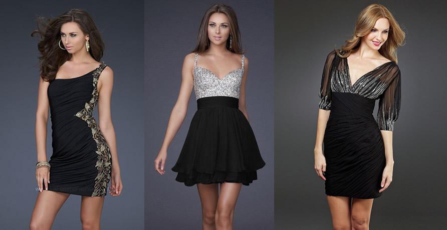 vestidos de noche cortos 4 - Vestidos de Noche para cualquier Evento