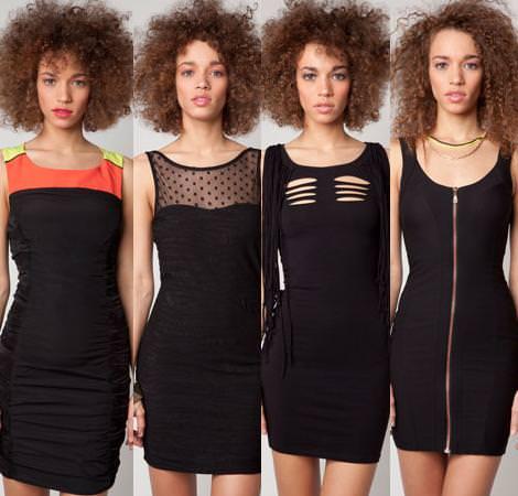 vestidos negro - Fotos de vestidos negros para la noche