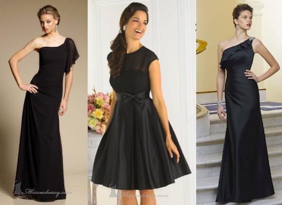 vestidos negros de moda - Fotos de vestidos negros para la noche