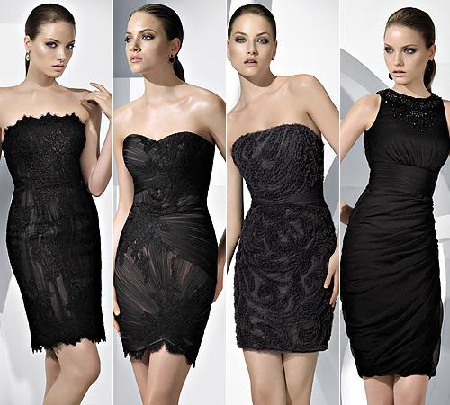vestidos negros elegantes - Fotos de vestidos negros para la noche