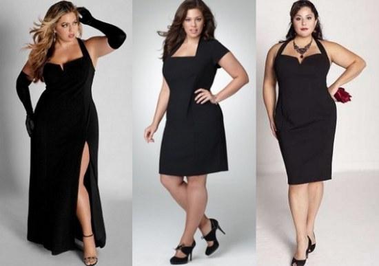 vestidos negros para gorditas - Fotos de vestidos negros para la noche