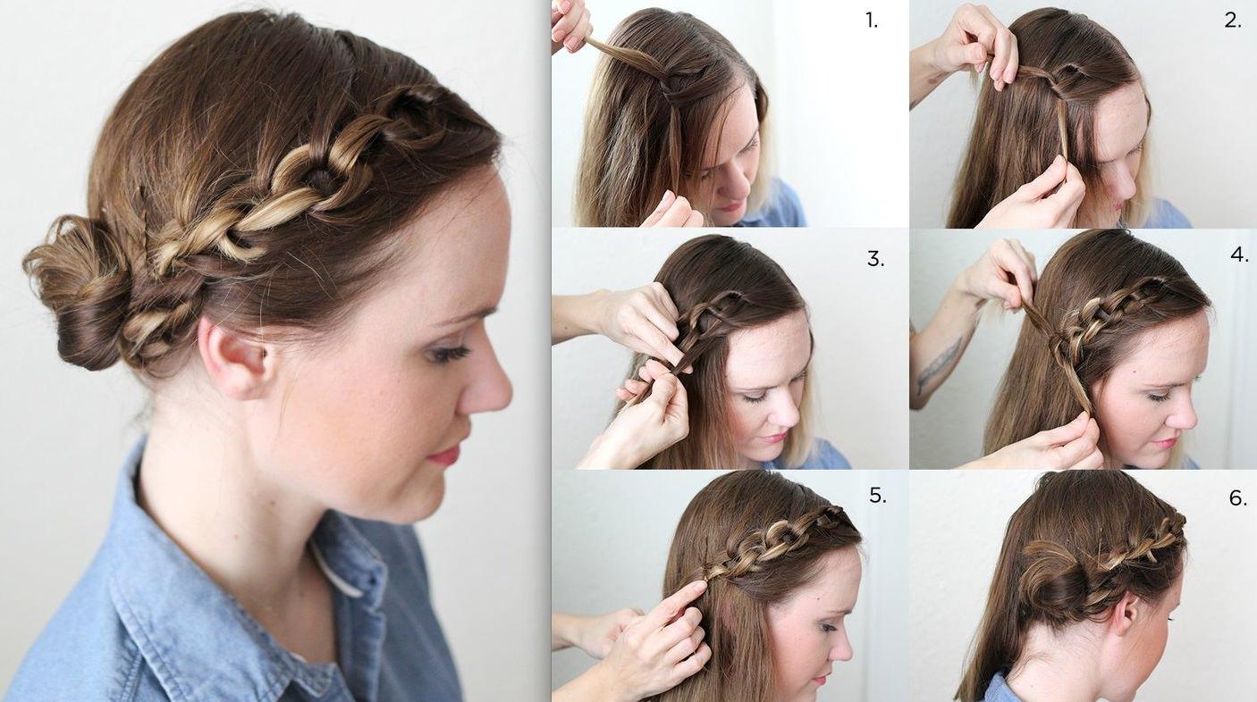 Peinados con trenza cadena