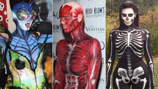 disfraces con body paint - Ideas De Disfraces Para Noche de Brujas o Halloween!!