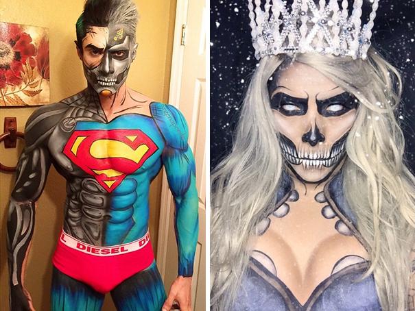 disfraces con bodypainit - Ideas De Disfraces Para Noche de Brujas o Halloween!!