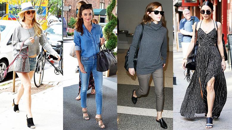 Zapatos de moda de las famosas