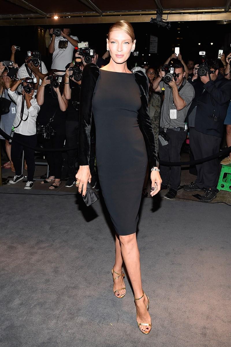 uma thurman moda - La semana de la moda de Nueva York
