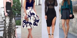 tipos de faldas y estilos