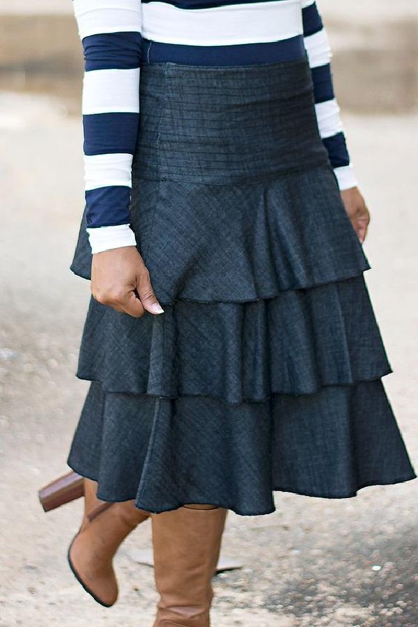 Falda de capas - 15 Diferentes Tipos y Estilos de Faldas