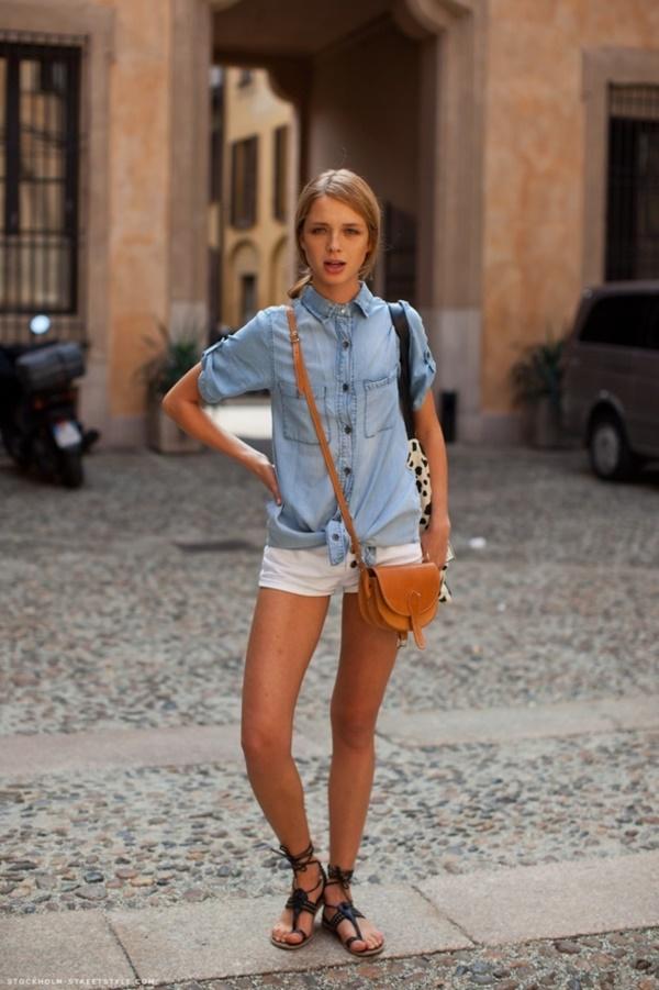 Stylish Ways to Wear a Chambray shirt0351 - Como Combinar Una Blusa De Mezclilla