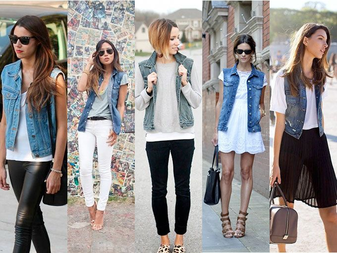 chalecos de mezclilla con pantalon - Como Combinar Una Blusa De Mezclilla