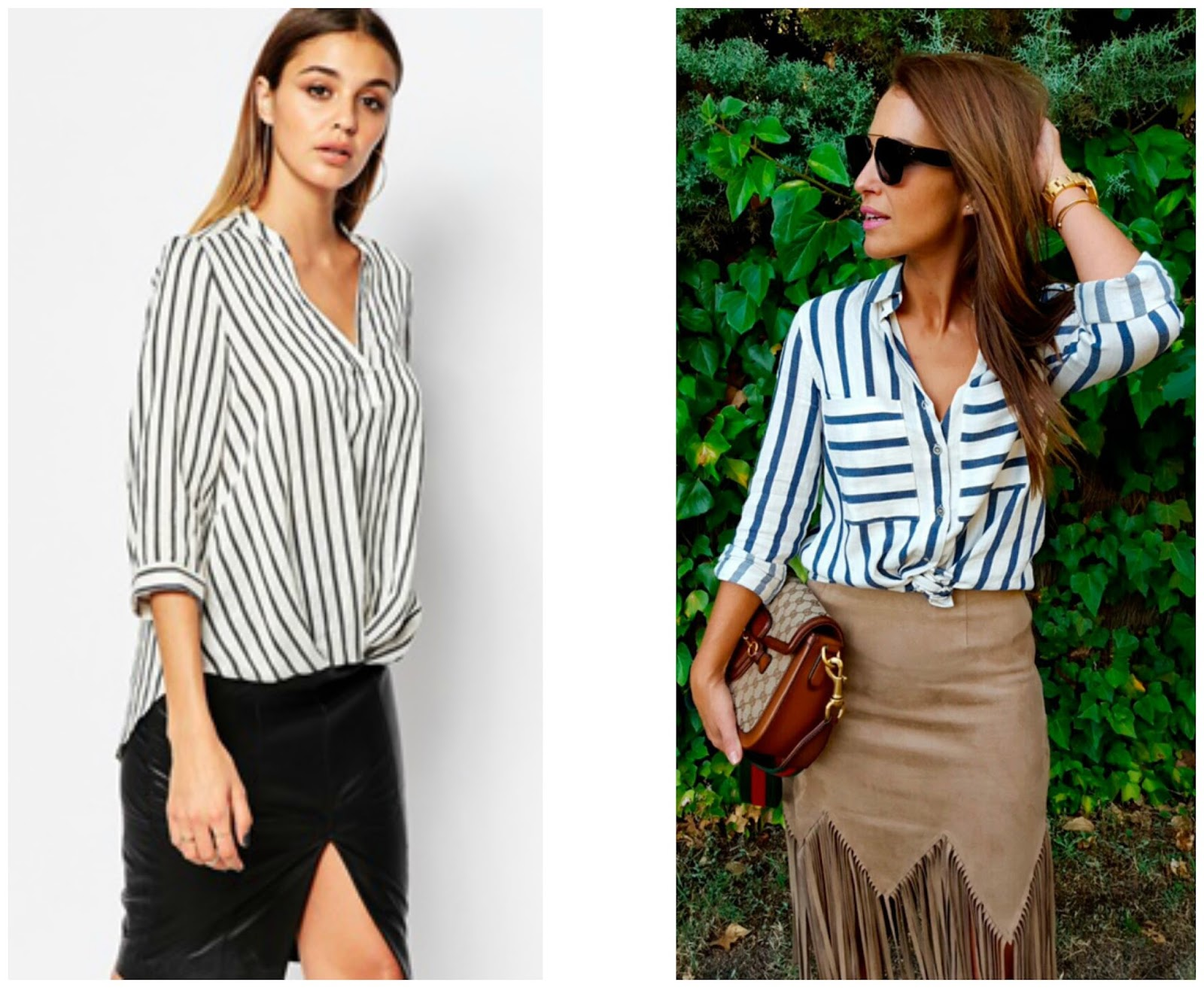 combinar-blusa-de-rayas-con-falda