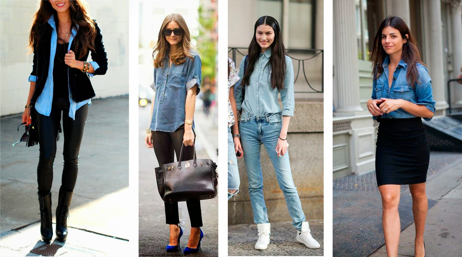 como usar una bluza de mezclilla con pantalon - Como Combinar Una Blusa De Mezclilla