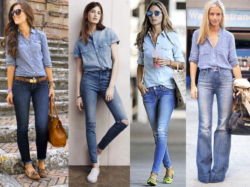 ideas de pantalon con blusa de mezclilla - Como Combinar Una Blusa De Mezclilla
