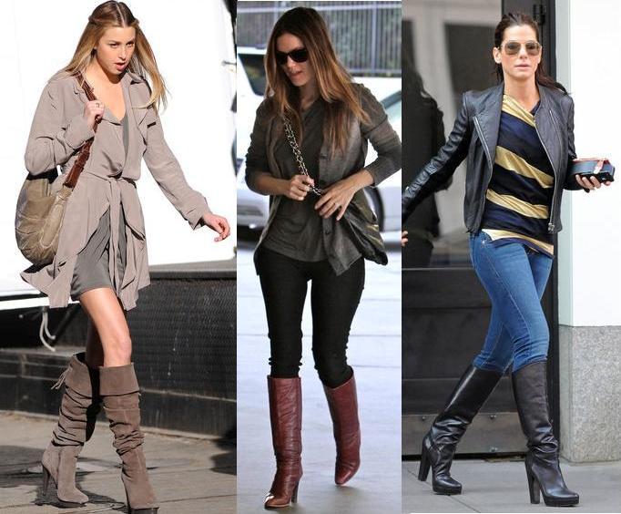 Ideas de con que ropa usar las botas largas