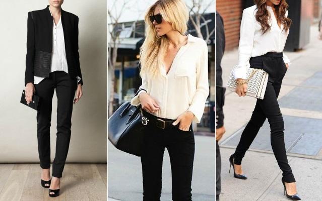 como llevar jeans negros