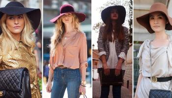 Como combinar diferentes tipos de sombreros para mujer