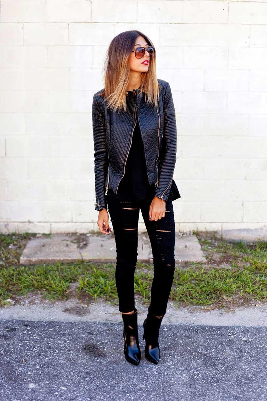 look en negro - Como Combinar Tus Jeans De Color Negro