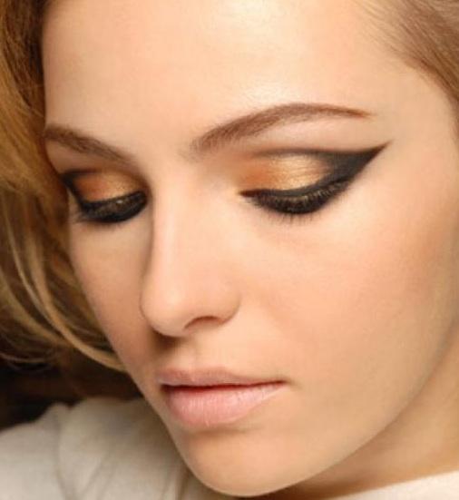 maquillaje invierno - Tips de maquillaje para las fiestas navideñas en color dorado