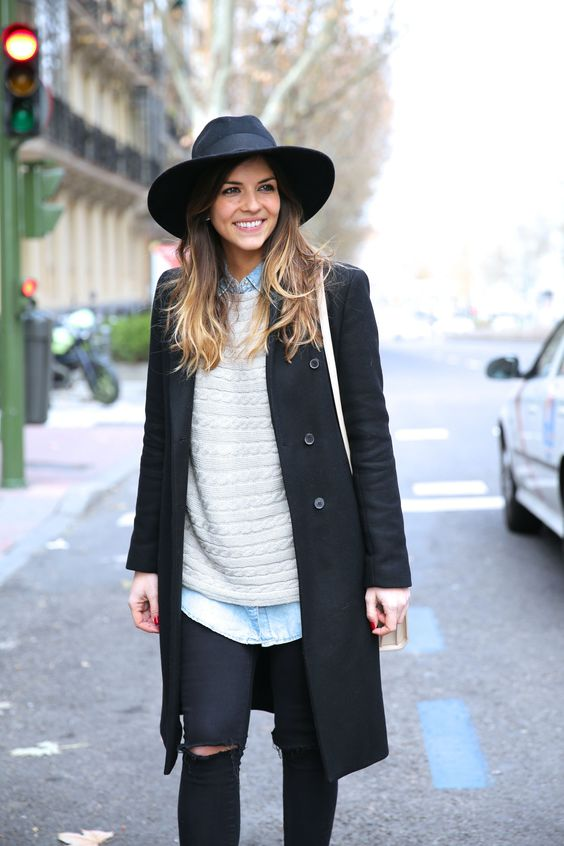 sombrero fedora - Como combinar diferentes tipos de sombreros para mujer