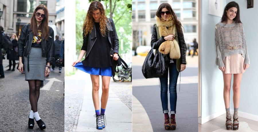 moda con calcetines
