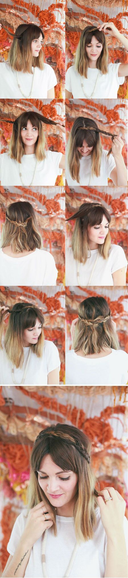 10 Sencillos Peinados Para Cabello Corto