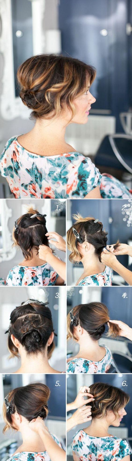 PEINADO PARA EVENTO - 10 Sencillos Peinados Para Cabello Corto