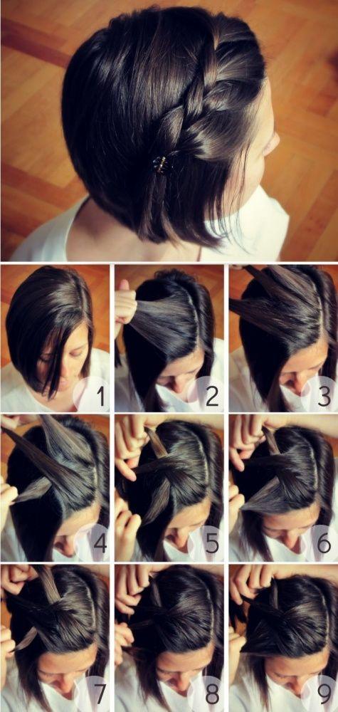 TRENZA DE LADO - 10 Sencillos Peinados Para Cabello Corto