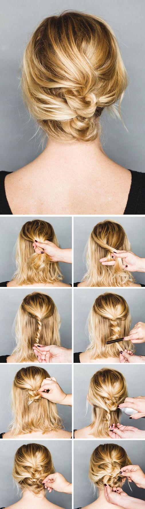 TRENZA PARA CABELLO CORTO - 10 Sencillos Peinados Para Cabello Corto