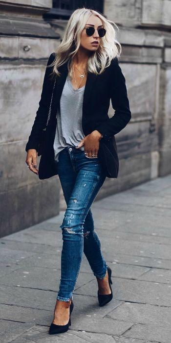 blazer outfits - Prendas Básicas Que No Deben Faltar En Tu Closet
