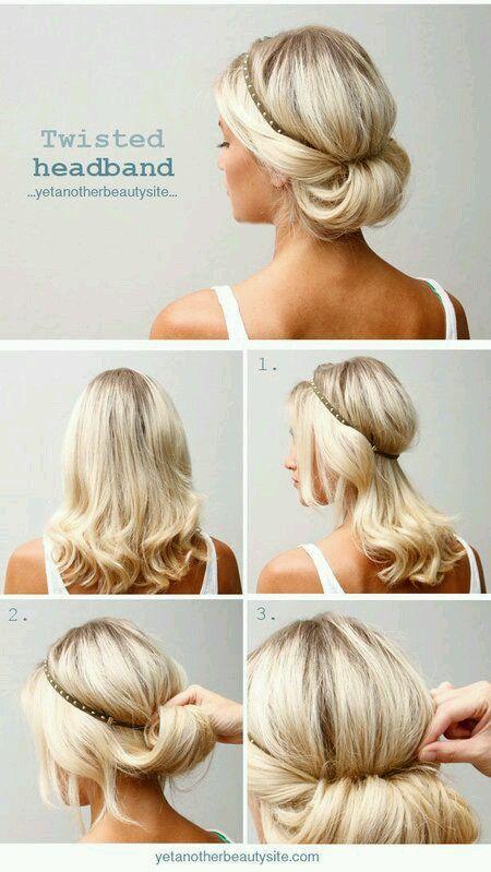 recogido con diadema - 10 Peinados Para Cabello Largo