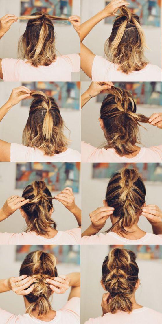 recogido para cabello corto - 10 Sencillos Peinados Para Cabello Corto