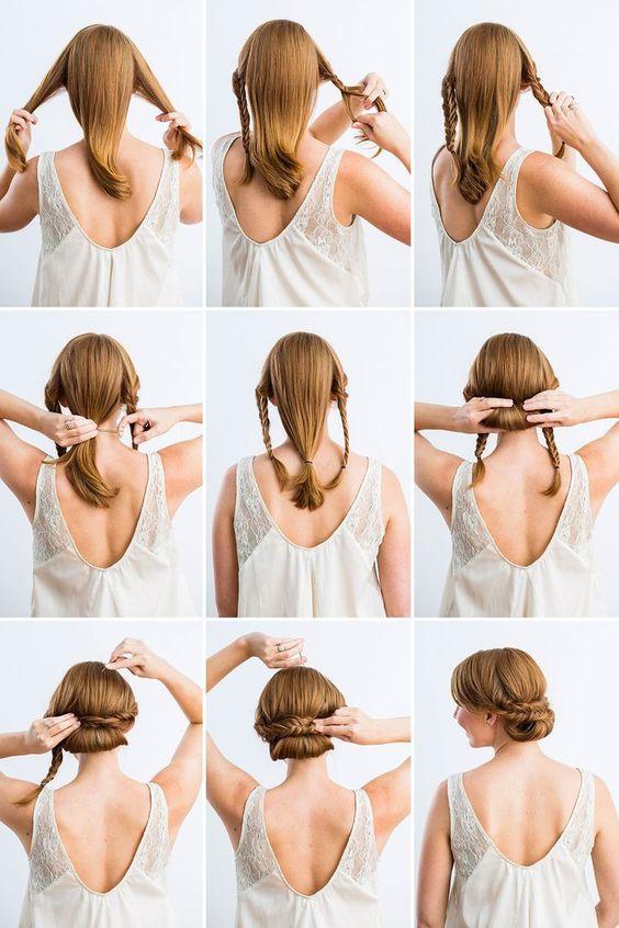 recogido sencillo - 10 Peinados Para Cabello Largo