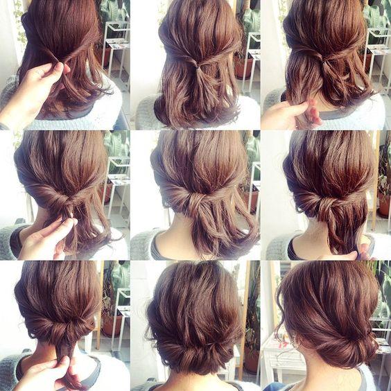 sencillo elegante cabello - 10 Sencillos Peinados Para Cabello Corto