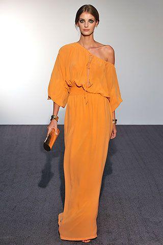 maxivestido naranja - Increíbles Outfits Naranja El Color Del Verano