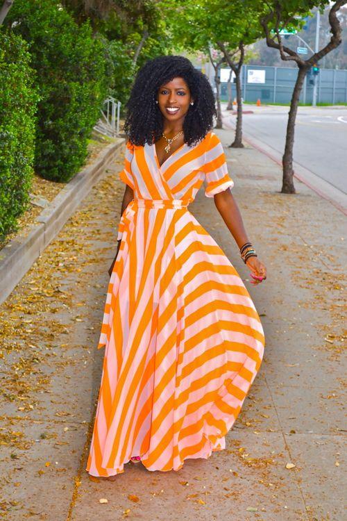 maxivestido2 - Increíbles Outfits Naranja El Color Del Verano