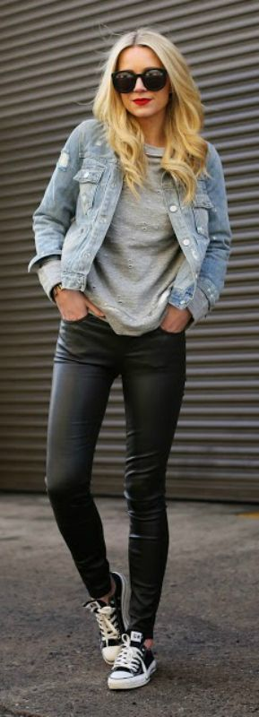 15 Outfits Con Tenis Que Te Encantaran