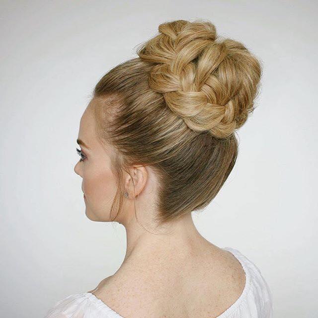 recogido cabello3 - 10 Peinados Con Trenzas Para Cabello Largo