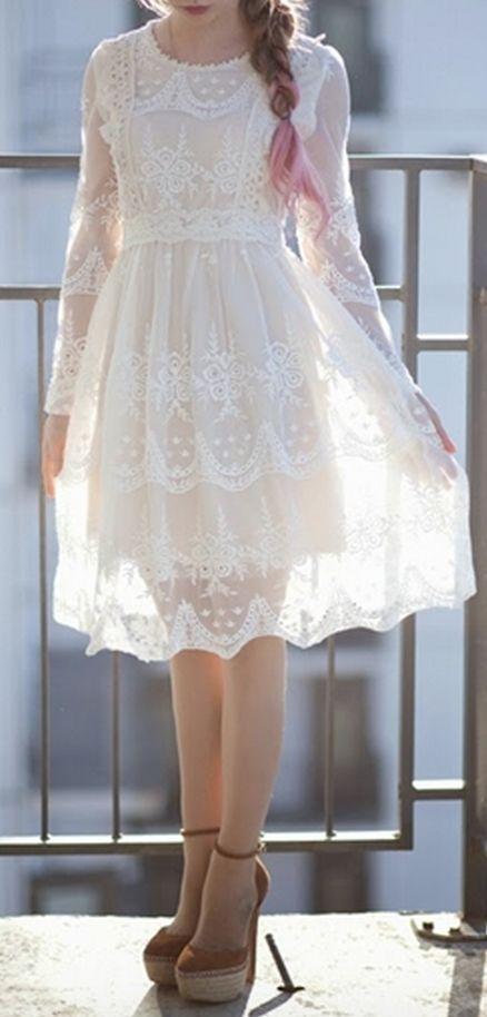 vestido blanco10 - 15 Vestidos Blancos Que Son Perfectos Para El Verano