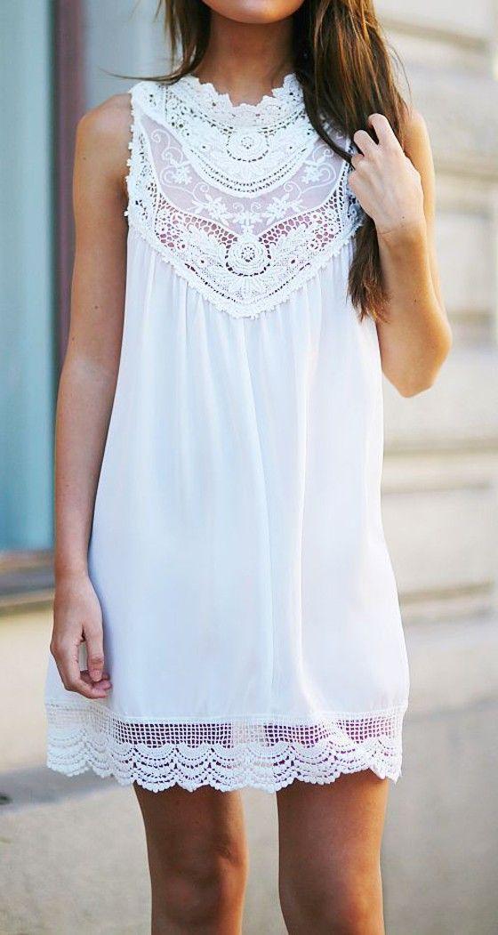vestido blanco13 - 15 Vestidos Blancos Que Son Perfectos Para El Verano