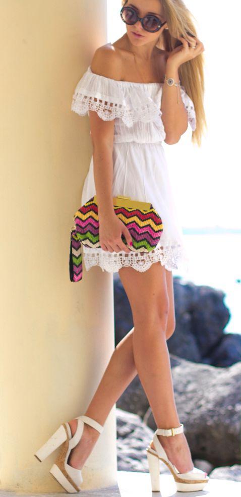 vestido blanco15 - 15 Vestidos Blancos Que Son Perfectos Para El Verano