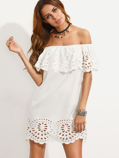 vestido blanco4 - 15 Vestidos Blancos Que Son Perfectos Para El Verano