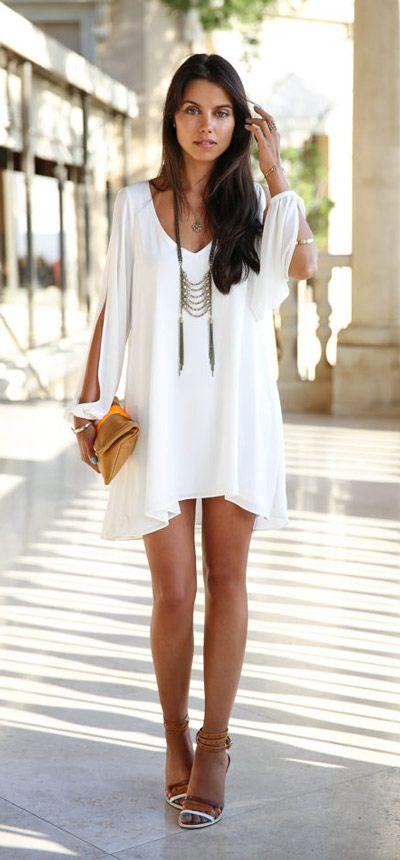 vestido blanco5 - 15 Vestidos Blancos Que Son Perfectos Para El Verano